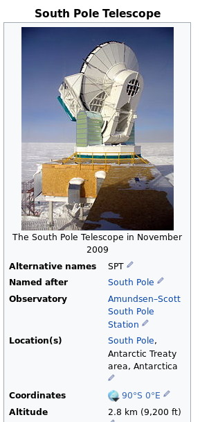 Infobox South Pole Telescope